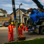 Hydrovac excavation